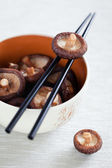 Soaked shiitake mushrooms — Stock Photo