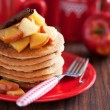 Pancakes with cinnamon and caramelized apples — Stock Photo #17686911