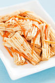 Spicy tofu skin and carrots salad — Stock Photo
