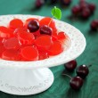 Homemade cherry jelly candy — Stock Photo