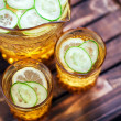 Cucumber, lemon and ginger lemonade — Stock Photo