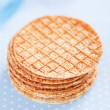 Crisp waffle with bran — Stock Photo