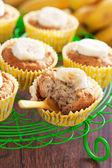 Vegan banana muffins — Stock Photo