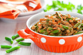 Green beans in tomato sauce — Stock Photo