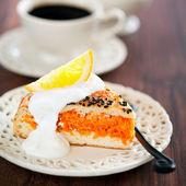 カボチャ、ニンジン、オレンジとパイ — ストック写真