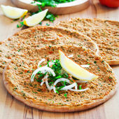Traditional Turkish pizza — Stock Photo