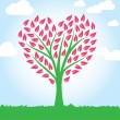 Tree heart shape — Stockvectorbeeld