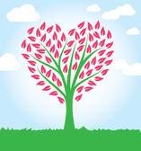 Tree heart shape — Stock Vector