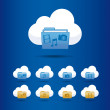 Icons cloud computing — 图库矢量图片