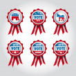 Badges U.S presidential election 2012 — Stock Vector #13409755