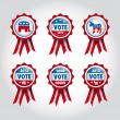 Stock Vector: Badges U.S presidential election 2012