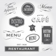 Vintage ornaments and signs french restaurant — Stock Vector