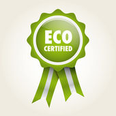 Label eco certified — Stock Vector