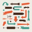 Set of arrows — Stock Vector