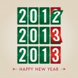 Happy new year 2013 mechanical count style — Stock Vector