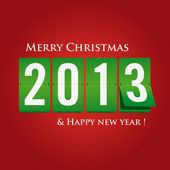 Merry Christmas and happy new year 2013 mechanical count style — Stock Vector