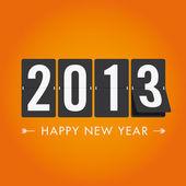 Feliz año 2013 al estilo conteo mecánico — Vector de stock