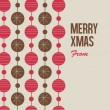Merry Christmas card with christmas balls — 图库矢量图片