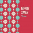 Merry Christmas card with christmas balls — Image vectorielle