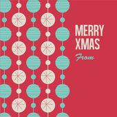 Merry Christmas card with christmas balls — Stock Vector