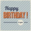 Retro vintage birthday card vector — Stock Vector