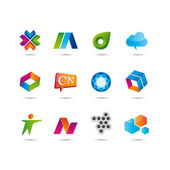 Set of logo and icons — 图库矢量图片