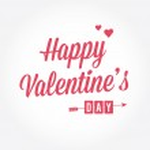 Happy Valentine's day card, type text, editable vector — Cтоковый вектор
