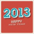 Happy new year 2013 typographic card — Vettoriali Stock