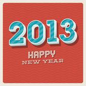 Happy new year 2013 typographic card — Stockvektor
