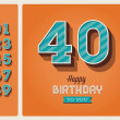 Birthday card editable — Stockvectorbeeld