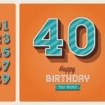 Birthday card editable — Stock Vector