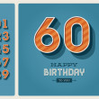 Vector de stock : Birthday card editable