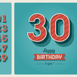 Birthday card editable — Vettoriali Stock
