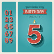 Vettoriale Stock : Birthday card invitation editable
