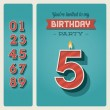 Birthday card invitation editable — Stok Vektör #16889333