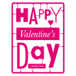 Royalty-Free Stock Vector Image: Typographic valentines day card