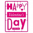 Typographic valentines day card - Stock Vector