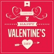 Happy Valentines day card design vector — Stock Vector