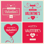 Set of valentines day card design — Vector de stock
