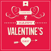 Happy Valentines day card design vector — Cтоковый вектор