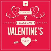 Mutlu sevgililer günü kartı tasarlamak vektör — Stok Vektör