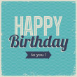 Vintage retro happy birthday card, with fonts — Stock Vector #18077645