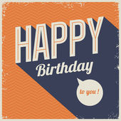 Vintage retro happy birthday card, with fonts — Vector de stock