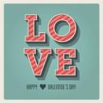 Счастливый день Святого Валентина карты, я люблю тебя, тип шрифта — Cтоковый вектор