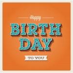 Happy birthday card, font type — Stock Vector #18872597
