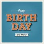 Happy birthday card, font type — Stock Vector