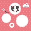 Happy valentines day card, template editable, valentines day background - Stock Vector