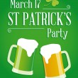 Happy St Patricks day party poster invite — Imagens vectoriais em stock