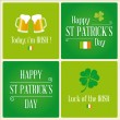 Happy St Patricks day card design elements — Stock Vector