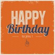 Happy birthday card, font type — Stock Vector